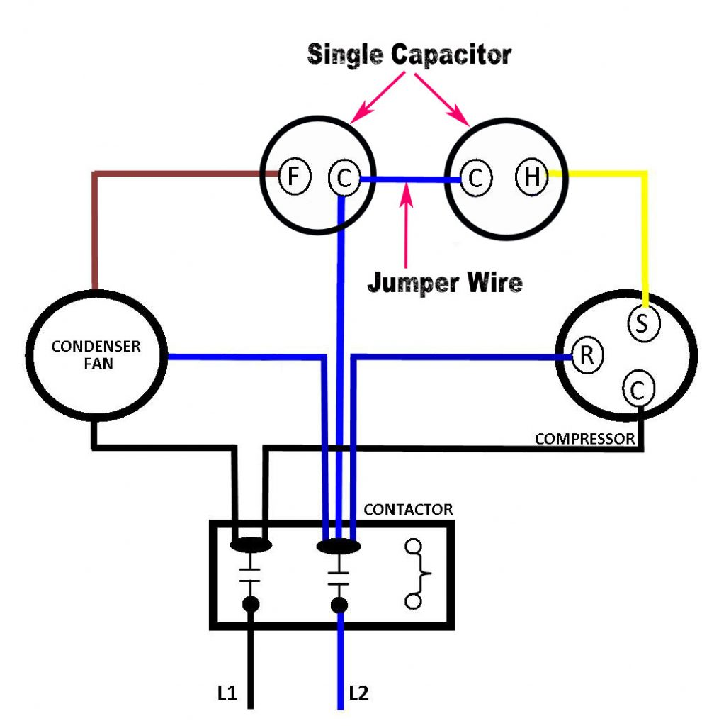 Can you use two single capacitors instead of one dual capacitor? -  PowerWell Capacitors | Hvac Dual Capacitor Wiring Diagram |  | PowerWell Capacitors