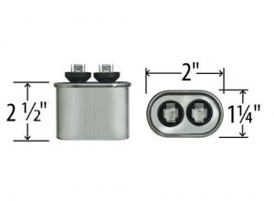 5 uf Oval Run Capacitor 370 or 440 VAC