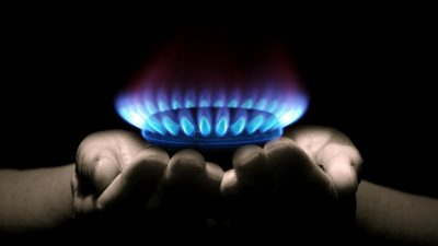Gas Flame heating