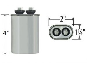 12.5 uf Oval Run Capacitor 370 or 440 VAC