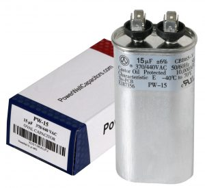 15 uf Oval Run Capacitor 370 or 440 VAC