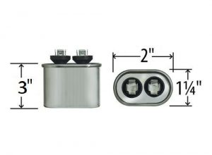 7.5 uf Oval Run Capacitor 370 or 440 VAC