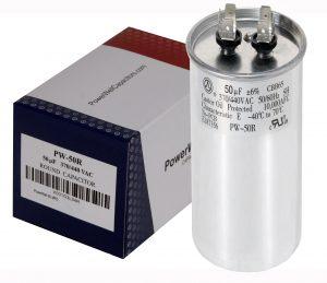 50 uf Round Run Capacitor 370 or 440 VAC